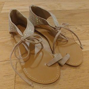 BAMBOO open flat sandals